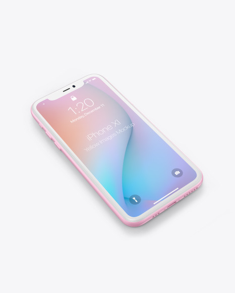 Download Iphone X Psd Mockup Free Yellow Images