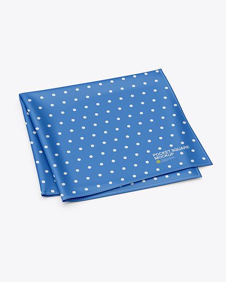 Pocket square or handkerchief mockup. Handkerchief Mockup Free Psd Free Mockups Psd Template Design Assets