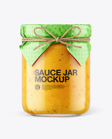 Download Clear Glass Cheese Sauce Jar Psd Mockup Yellowimages