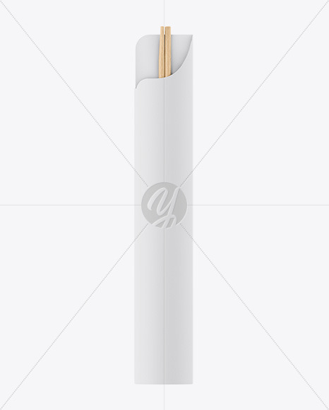 Download Chopsticks In Matte Pack Psd Mockup Top View Yellow Images
