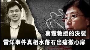 张杰:蔡霞政治觉醒与雷洋事件真相