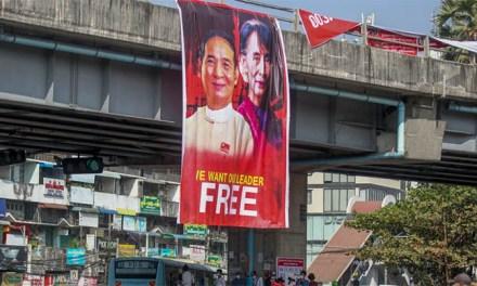 【美国之音】缅甸当局秘密庭审昂山素季 大规模民众抗议继续