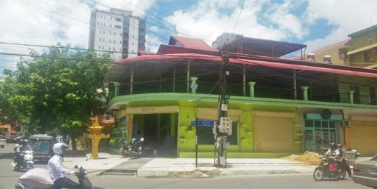 Near Sophea Hospital| Corner Restaurant For Rent