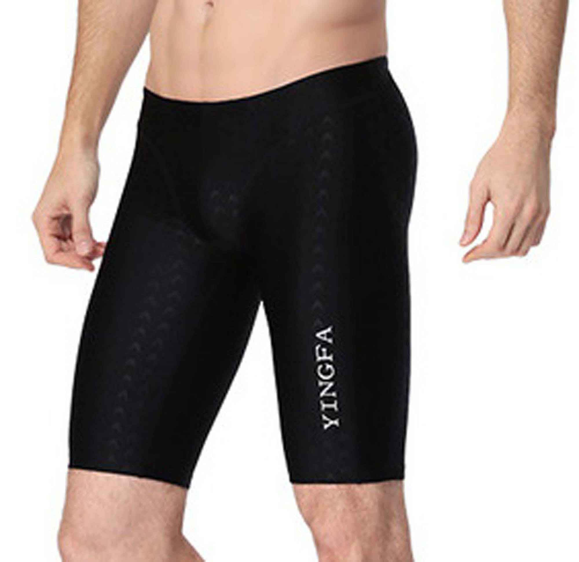 b4f932a918 Sharkskin men's racing & training swimming jammers FINA APPROVED swimming  trunks, Yingfa 9205-1