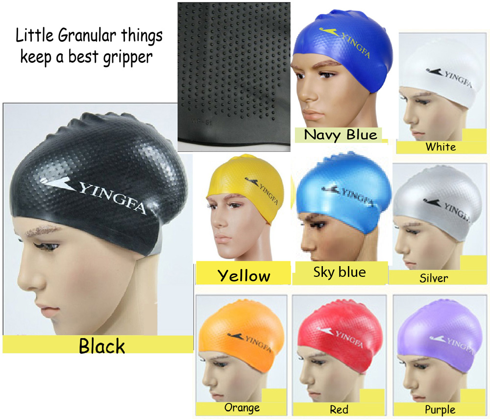 76d43c347d9 Yingfa high quality silicone swim cap with internal granules ...