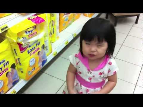 Yining Shopping For Her Diapers