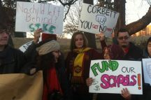 Students protest Gov. Corbett's budget cuts. [photos from: Philly Student Union]