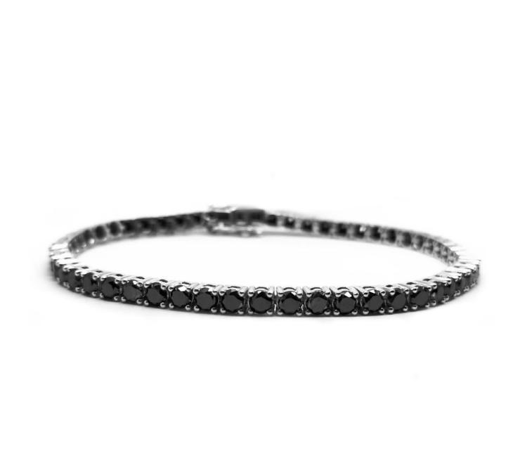 Black Diamonds Tennis Bracelet Image
