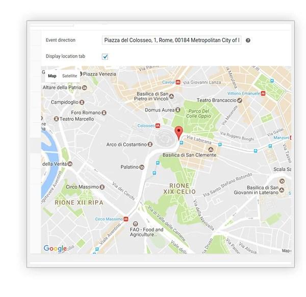 Set location map