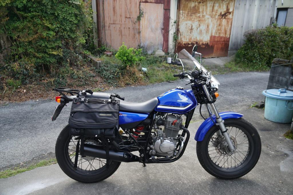 バイク ホンダ FTR223 サイドバッグ取り付け