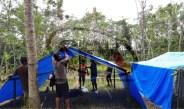 Pembangunan hunian sementara di dusun Dopang