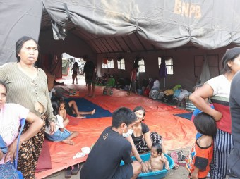 Evacuation camp