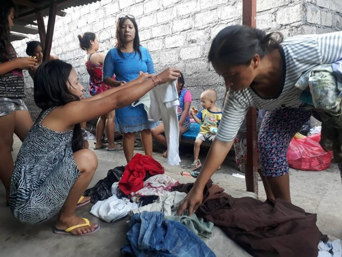 Clothing donation for slum kids