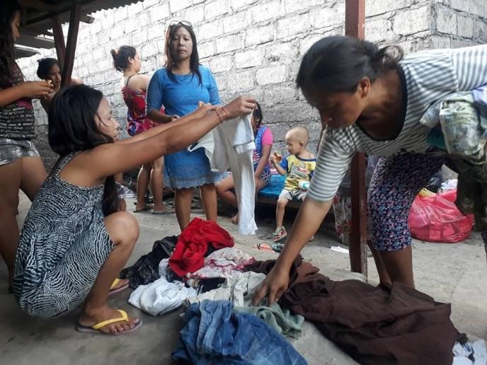 Clothing donation for slum kids