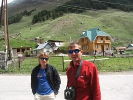 Юра и Лёша в Терсколе после восхождения