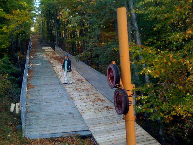 Мост расширен в два раза. Старые опоры еще не сняли