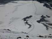 Вид с В. вершины Эльбруса на Южный склон