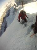 Спуск к Vallee Blanche