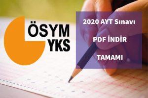 2020 ayt pdf indir