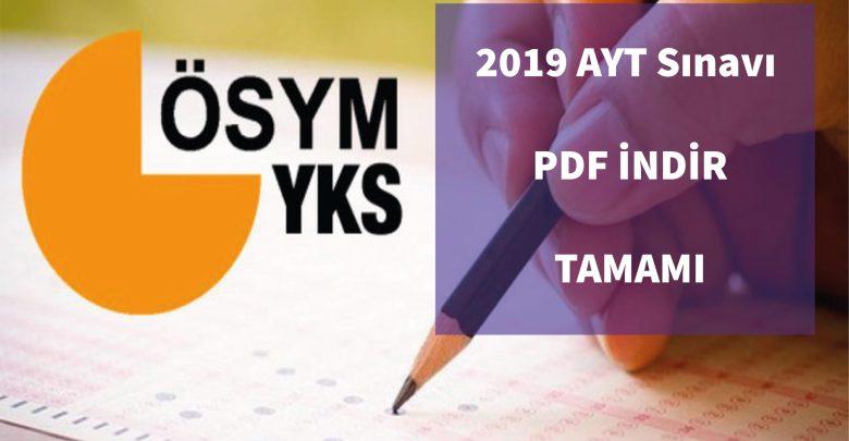 2019 AYT PDF İNDİR