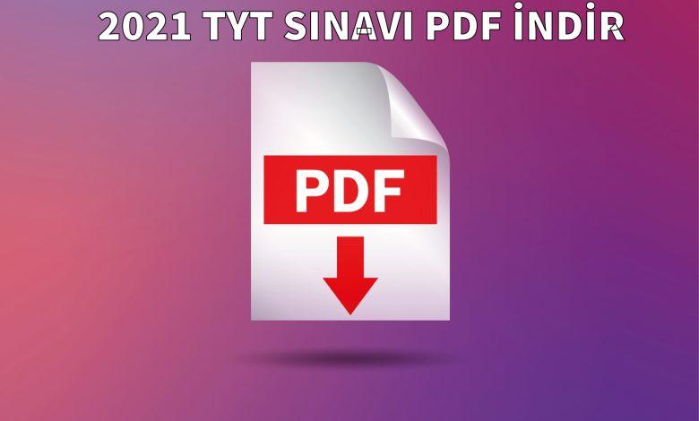 2021 TYT SINAVI PDF İNDİR