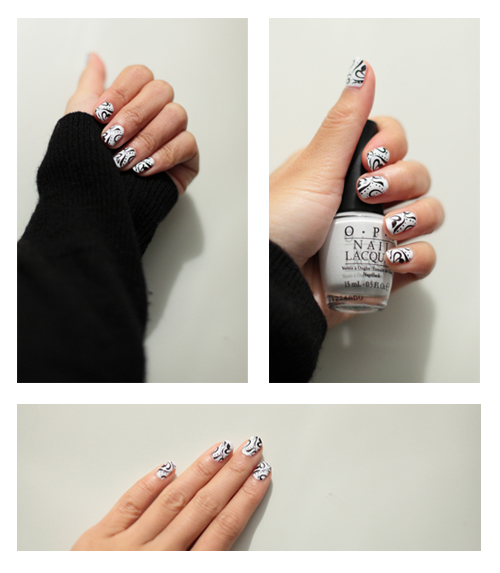 ~ Black & White Nailart ~