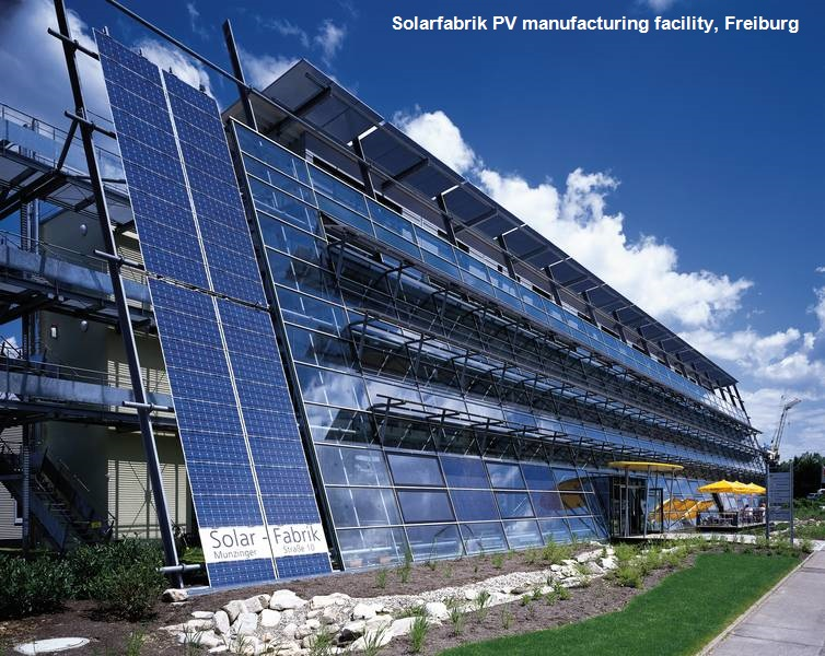 solar PV manufacture Freiburg