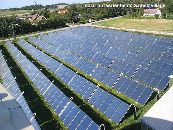Samso solar thermal district heat