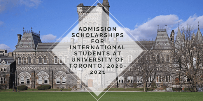 Image result for Admission Scholarships for International Students at University of Toronto, 2020-2021