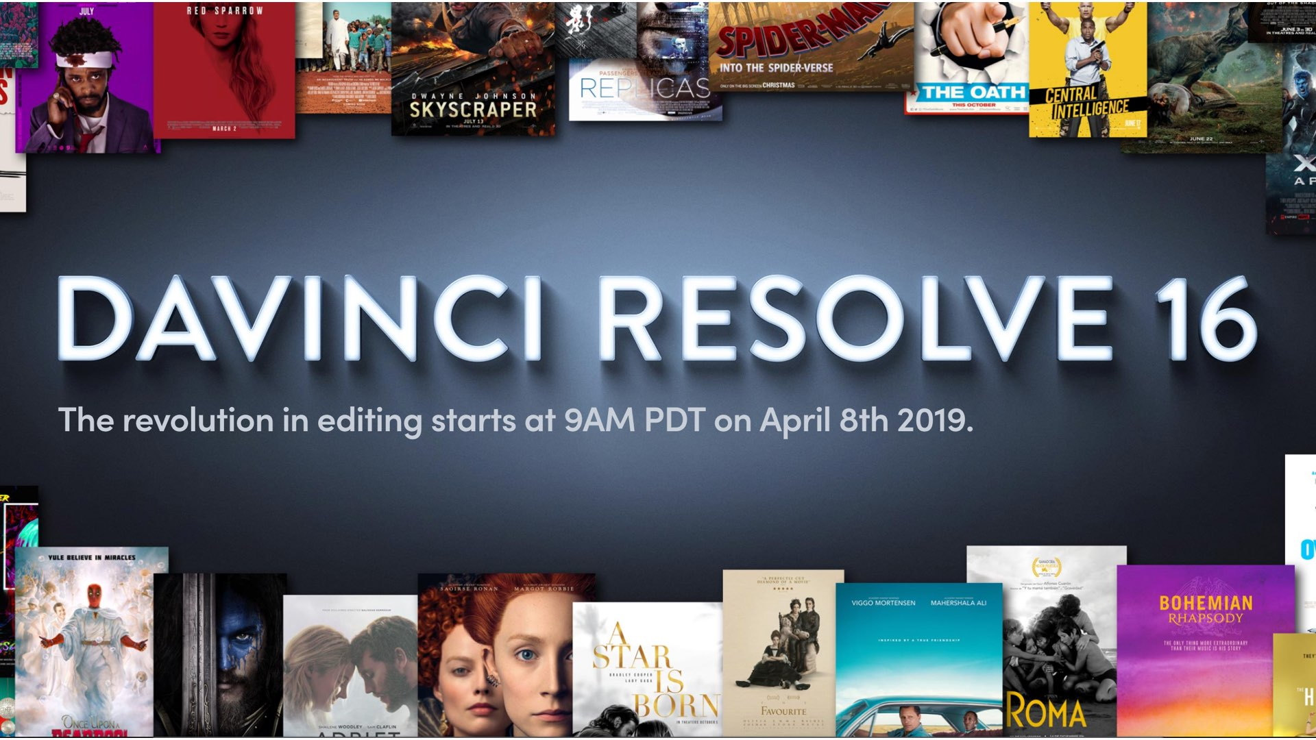"Revolution in Editing"": DaVinci Resolve 16 Will be Announced"