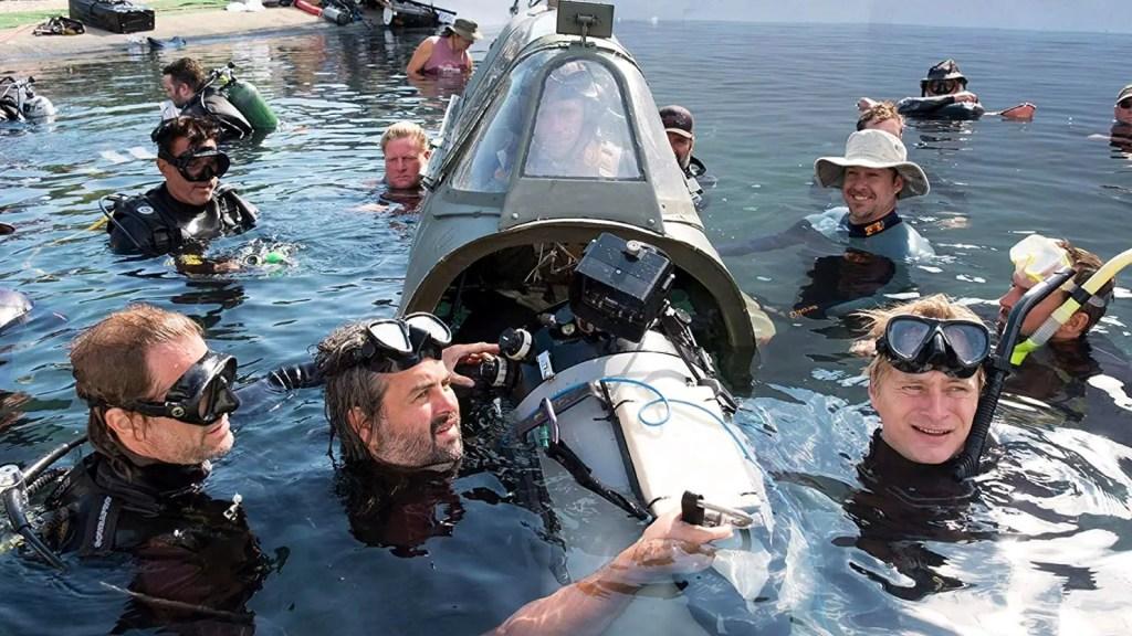 Dunkirk BTS: DP Hoyte Van Hoytema and Christopher Nolan shooting with IMAX camera. Source: IMDB. Credit: Unknown.