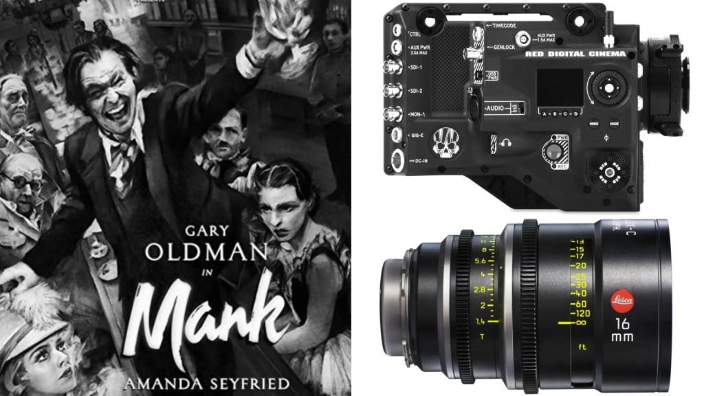 """Mank"" (Netflix): DP: Erik Messerschmidt, ASC. Cameras: RED Ranger HELIUM Monochrome. Lenses: LEICA Summilux C"