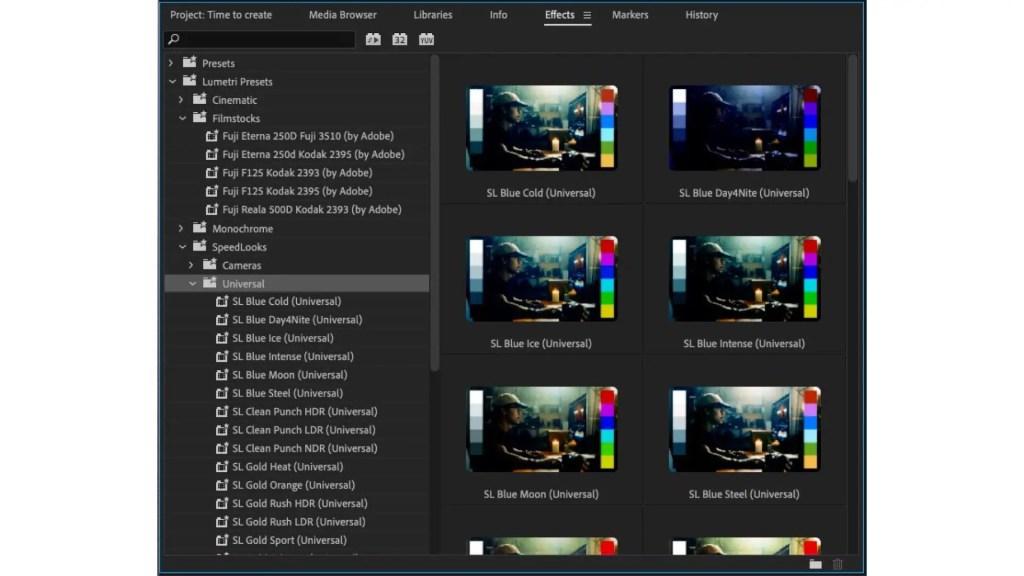 Premiere Pro: Dynamic Lumetri Previews