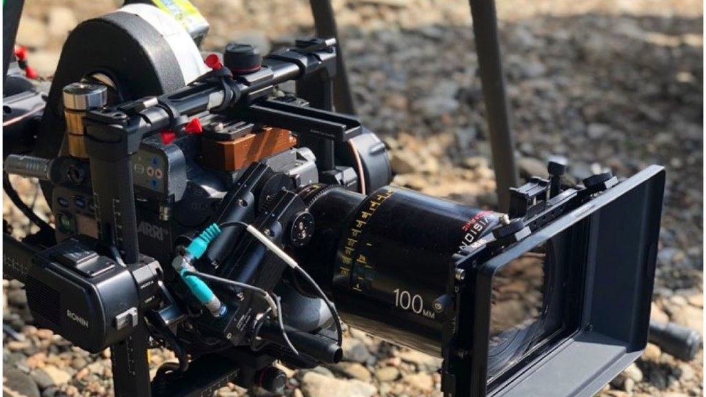 BTS from 'No Time to Die'.  ARRIFLEX 235 on a drone.  Courtesy of XM2 PURSUIT