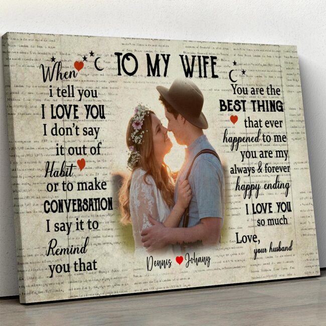 personalized wedding canvas, to my wife,  to my husband canvas art 1