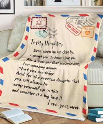 My daughter gift blanket, super comfortable fleece blanket 9
