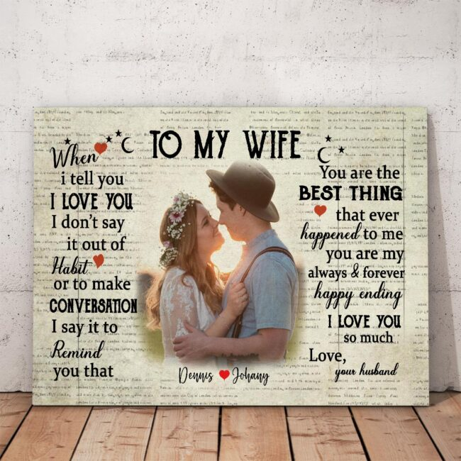 personalized wedding canvas, to my wife,  to my husband canvas art 6