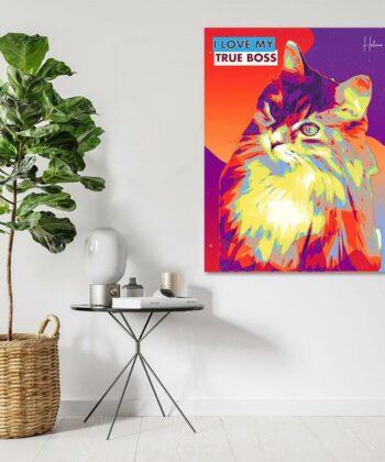 personalized pet canvas art, colorful pop art canvas, pet gift 9