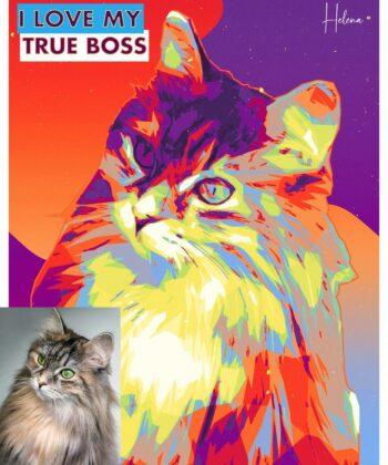 personalized pet canvas art, colorful pop art canvas, pet gift 8