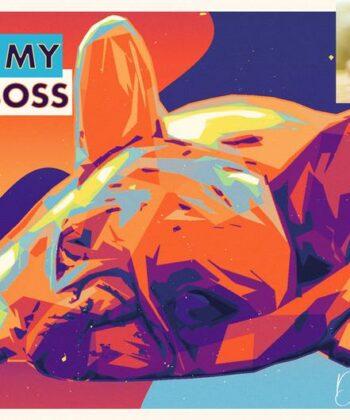 personalized pet canvas art, colorful pop art canvas, pet gift 7