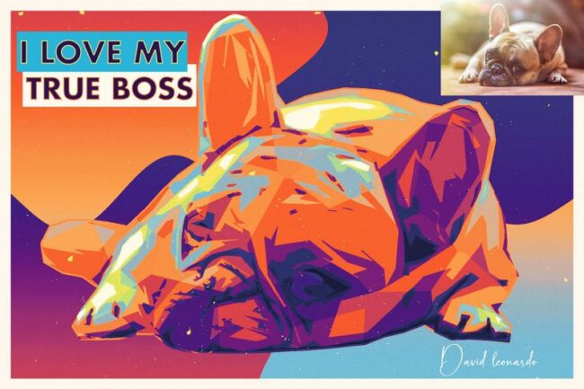 personalized pet canvas art, colorful pop art canvas, pet gift 3