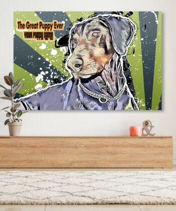 Personalized your Pet cartoon canvas art, dog cat canvas art, cartoon art pet gift 9