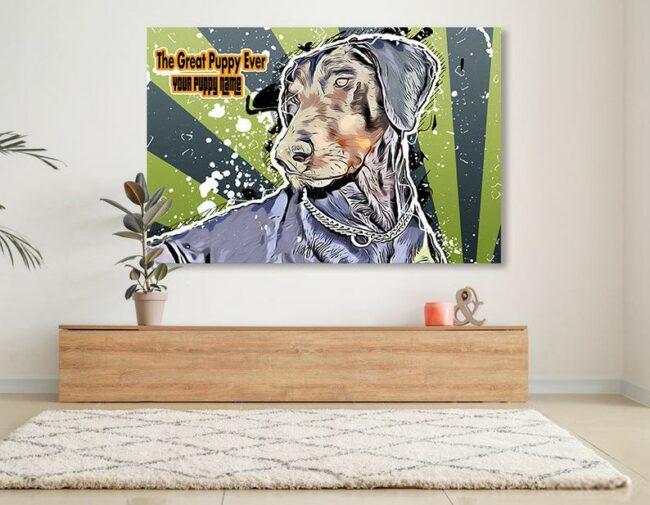 Personalized your Pet cartoon canvas art, dog cat canvas art, cartoon art pet gift 5