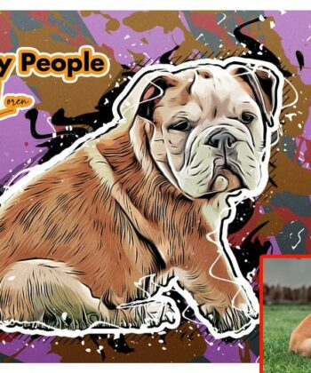 Personalized your Pet cartoon canvas art, dog cat canvas art, cartoon art pet gift 8