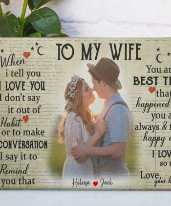 personalized wedding canvas, to my wife,  to my husband canvas art 8