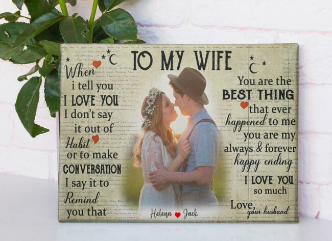 personalized wedding canvas, to my wife,  to my husband canvas art 3
