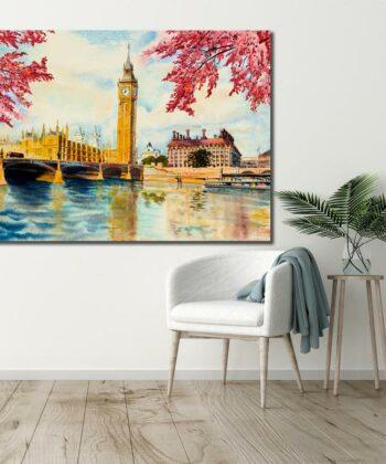 Beautiful Big Ben London Canvas, Oil painting, Canvas Art 5