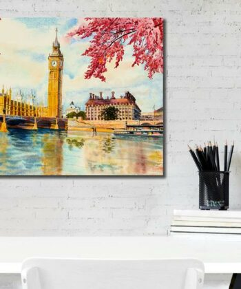 Beautiful Big Ben London Canvas, Oil painting, Canvas Art 4