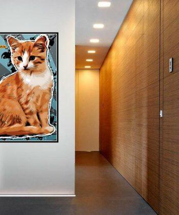 Personalized your Pet cartoon canvas art, dog cat canvas art, cartoon art pet gift 7