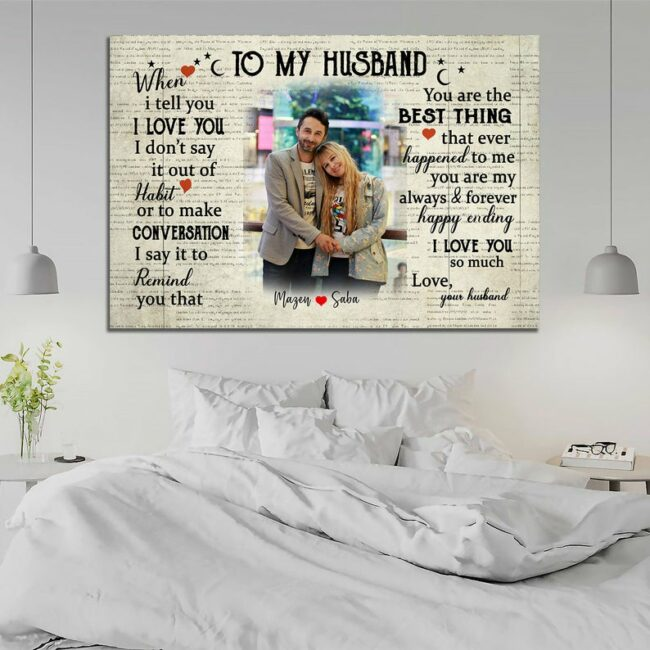 personalized wedding canvas, to my wife,  to my husband canvas art 2